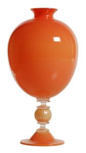 DSH Mouth Blown Tangerine Vase