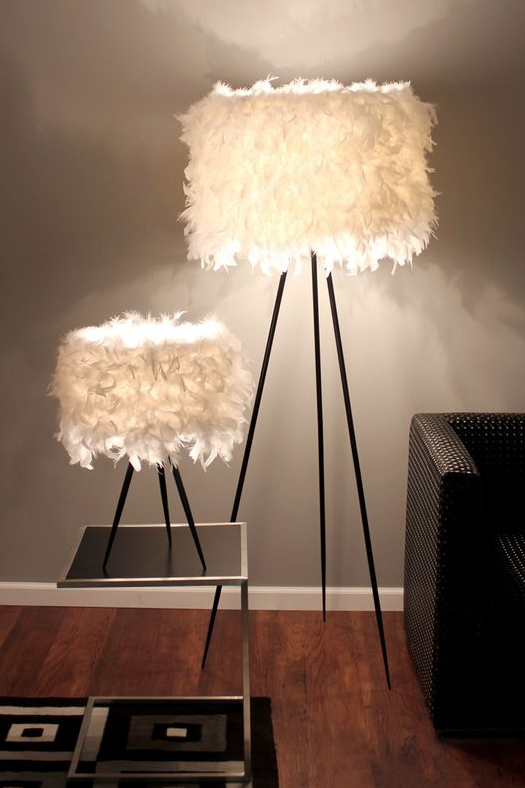 feather lampshades