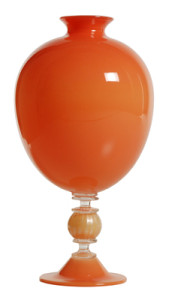 DSH Mouth Blown Tangerine Vase