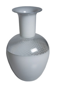 "DSH Mouth Blown ""Reticello"" Vase"
