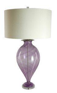 Purple Cane Vessel Lamp